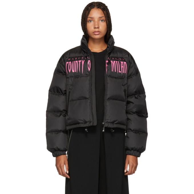 Marcelo Burlon Women'S Cwed005E188591561088 Black Polyamide Down Jacket