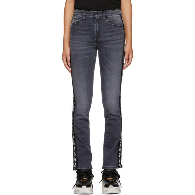 Marcelo Burlon County Of Milan Black Vintage Skinny Jeans