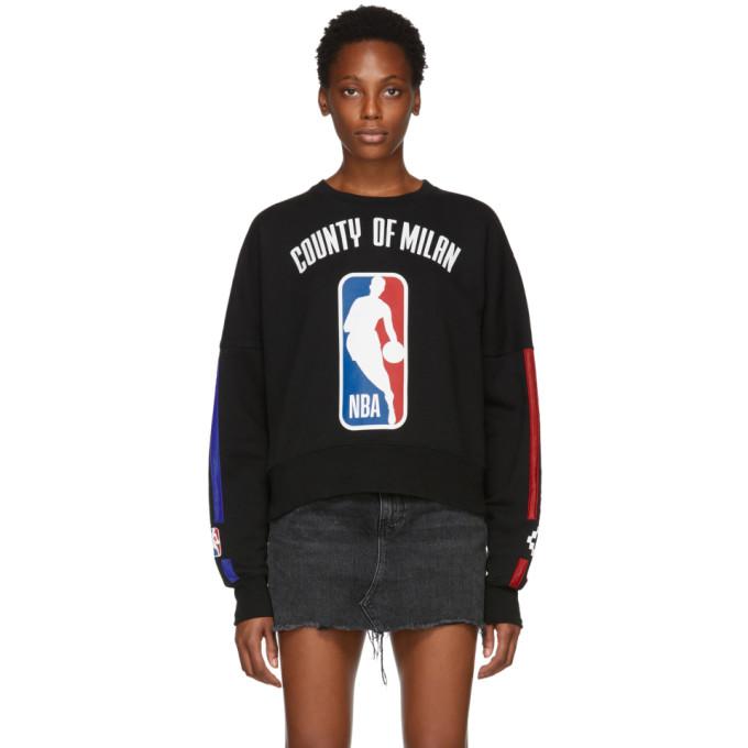 Nba Black Cotton Sweatshirt