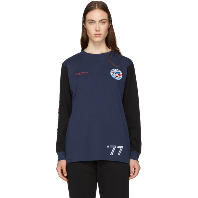 b78da86ee2f Marcelo Burlon County of Milan Blue Toronto Blue Jays Edition Long Sleeve T  Shirt