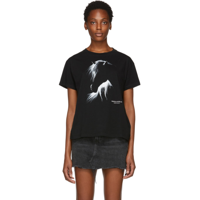 Marcelo Burlon County Of Milan MARCELO BURLON COUNTY OF MILAN BLACK HORSE LOW LIGHT T-SHIRT