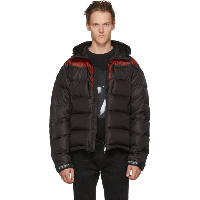 Marcelo Burlon County of Milan Black & Red Down Wings Jacket
