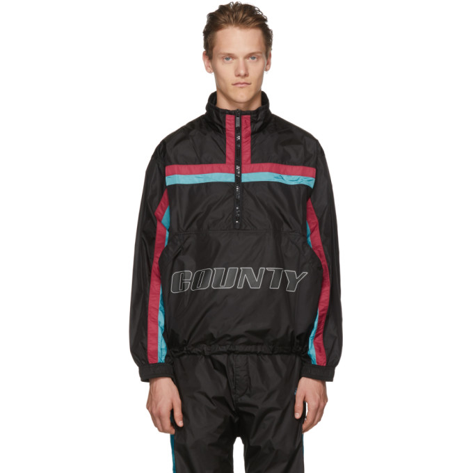 """County"" Striped Track Jacket, Blkmulti"