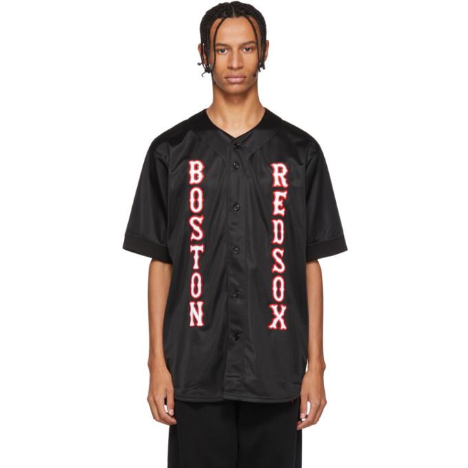 Marcelo Burlon County of Milan Chemise a appliques noire edition Boston Red Sox