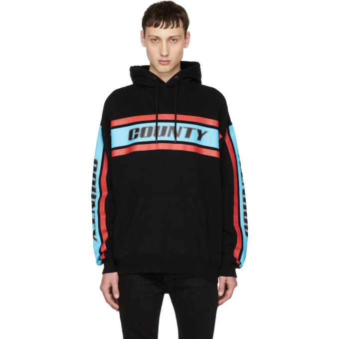 Image of Marcelo Burlon County of Milan Black Color Band 'County' Hoodie