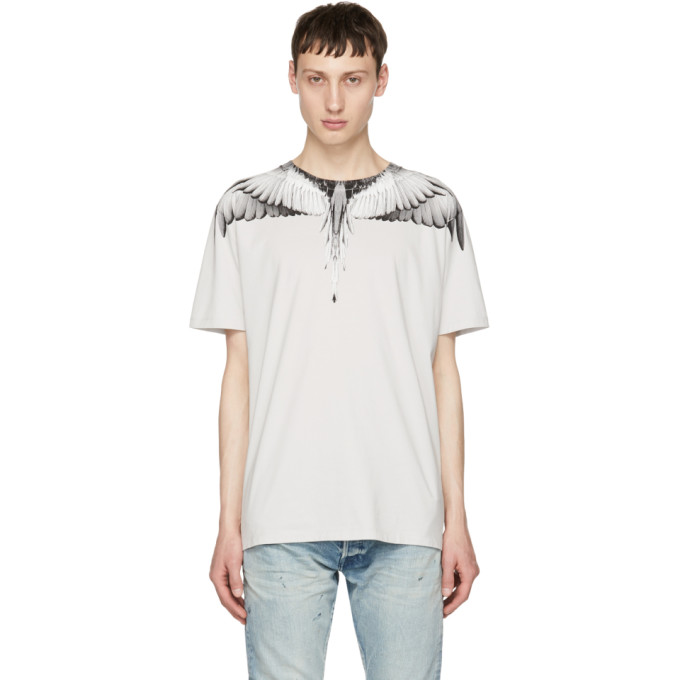 Marcelo Burlon County of Milan Grey Wings T-Shirt
