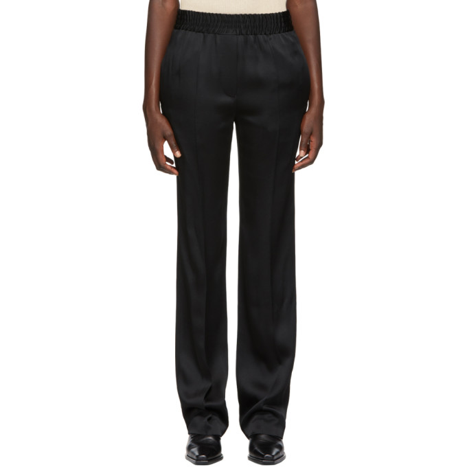 Haider Ackermann HAIDER ACKERMANN BLACK SHINY TROUSERS