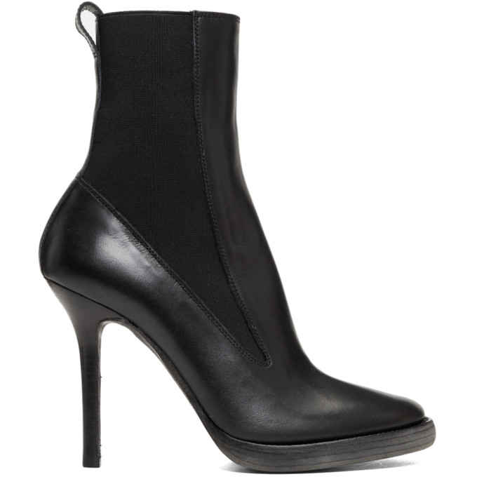 Pointed Toe Ankle Boots  in Black