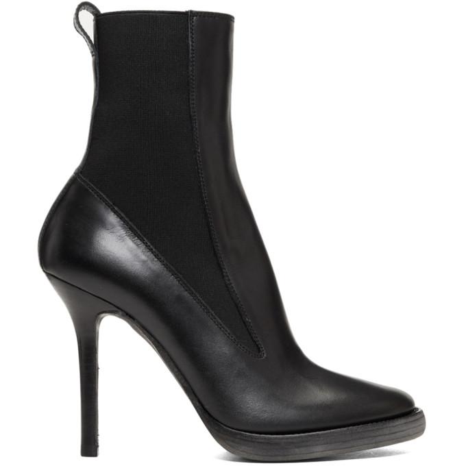 Haider Ackermann Black Elasticized High Boots