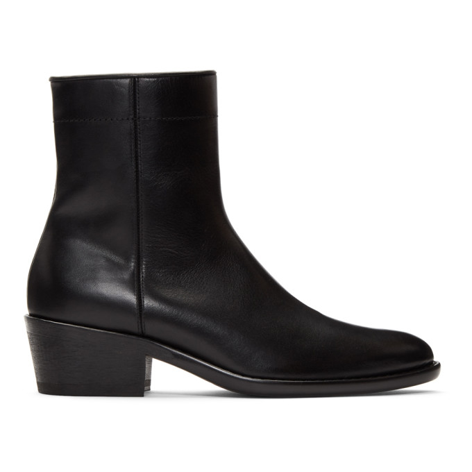 Haider Ackermann Black Polished Boots