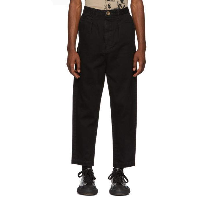 Miharayasuhiro Black Tapered Jeans