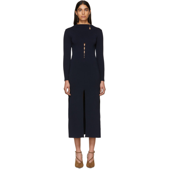 La Robe Douira Cutout Sweater Dress in Dark Navy
