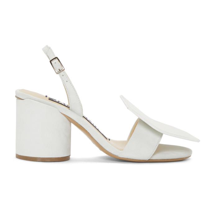 Jacquemus White 'Les Rond Carr�' Sandals