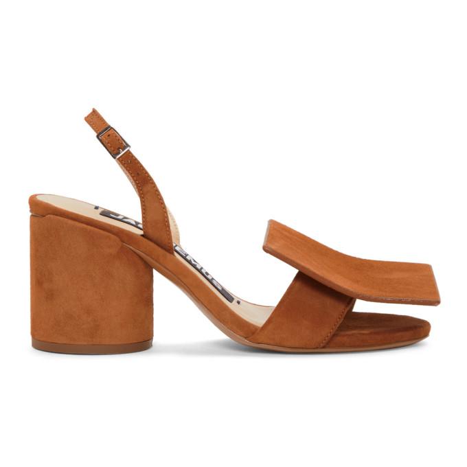 Jacquemus Tan 'Les Rond Carr�' Sandals