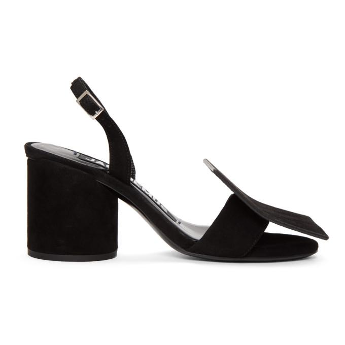 Jacquemus Black 'Les Rond Carr�' Sandals