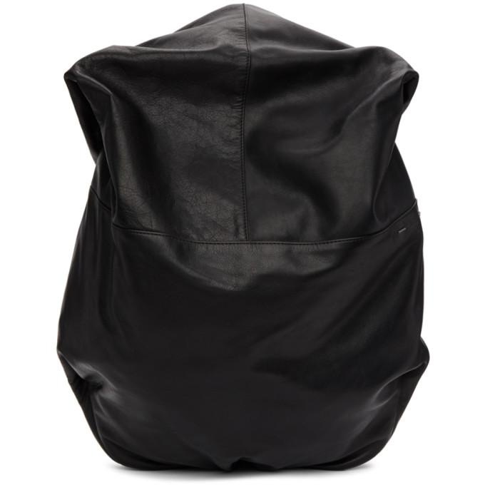 CÔTE AND CIEL Cote And Ciel Black Leather Nile Backpack