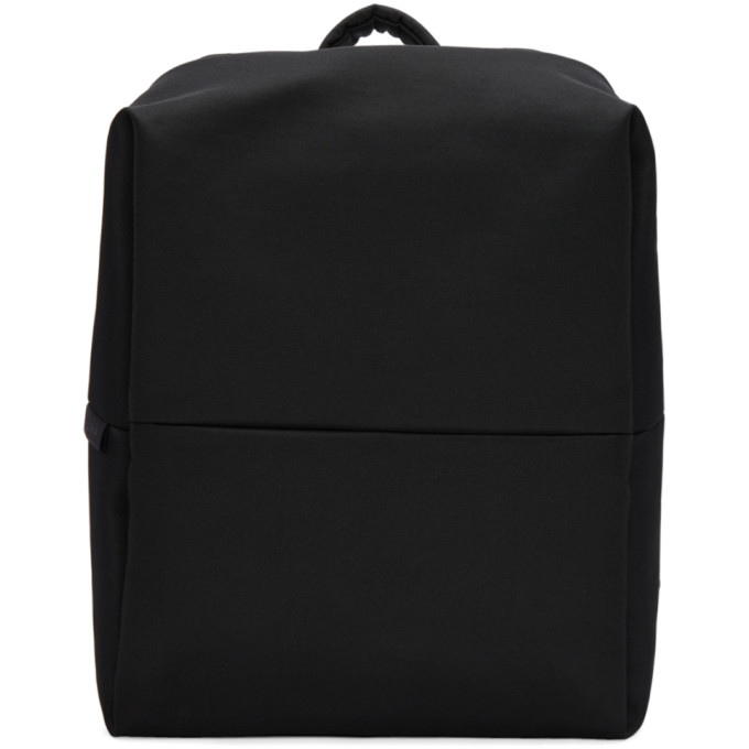 Image of Côte & Ciel Black Flat Eco Yarn Rhine Backpack