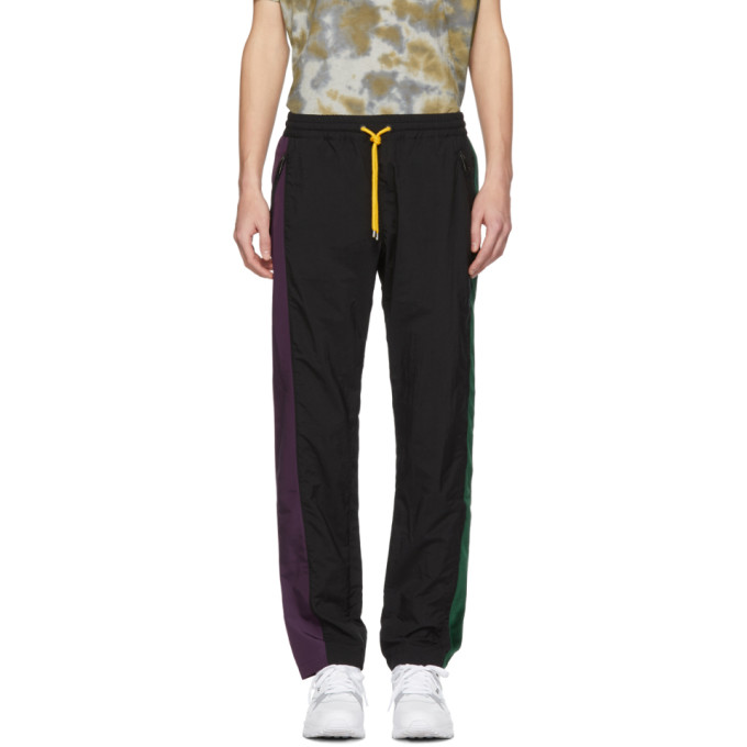 PYER MOSS Pyer Moss Black And Purple Classic Track Pants in Blk/Pur/Gre