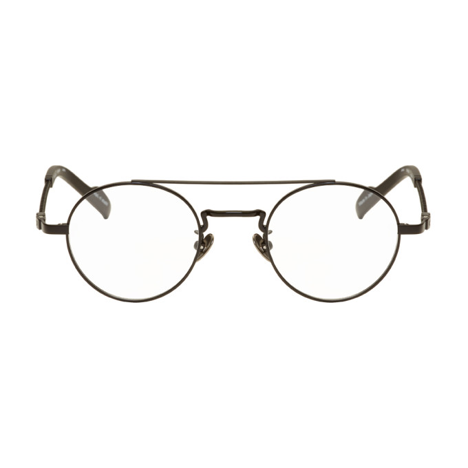 Image of Yohji Yamamoto Black Braided Round Glasses