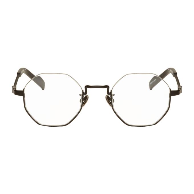 Image of Yohji Yamamoto Black Hexagonal Glasses
