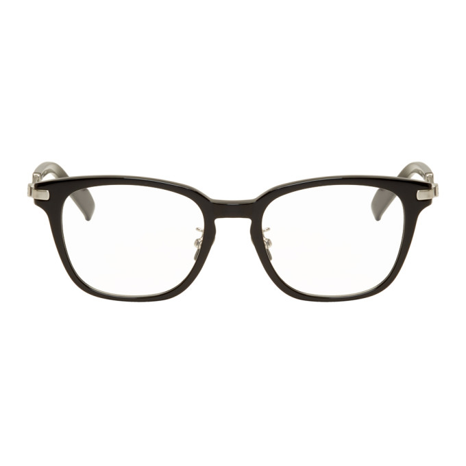 Image of Yohji Yamamoto Black & Silver Square Glasses