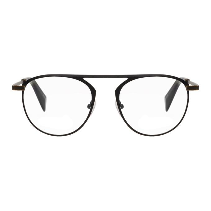 Image of Yohji Yamamoto Black Thick Wire Glasses