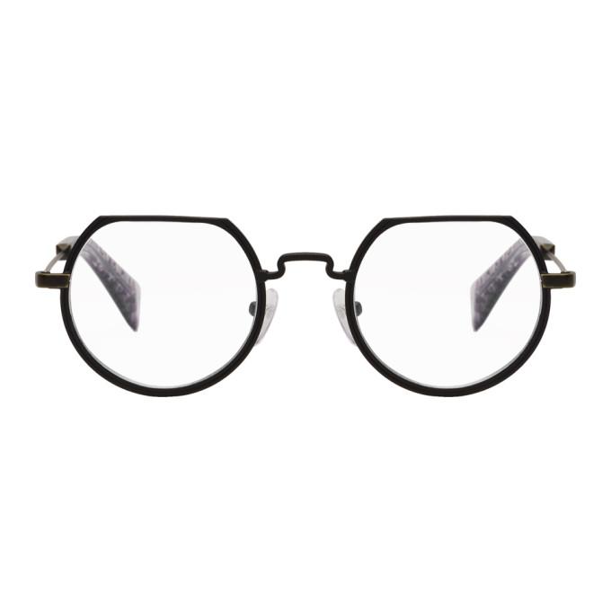 Image of Yohji Yamamoto Black Flat Top Glasses
