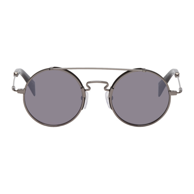 Image of Yohji Yamamoto Black Round Sunglasses