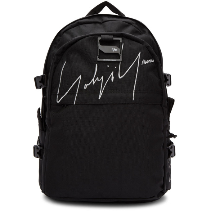 Yohji Yamamoto Black Logo Carrier Backpack