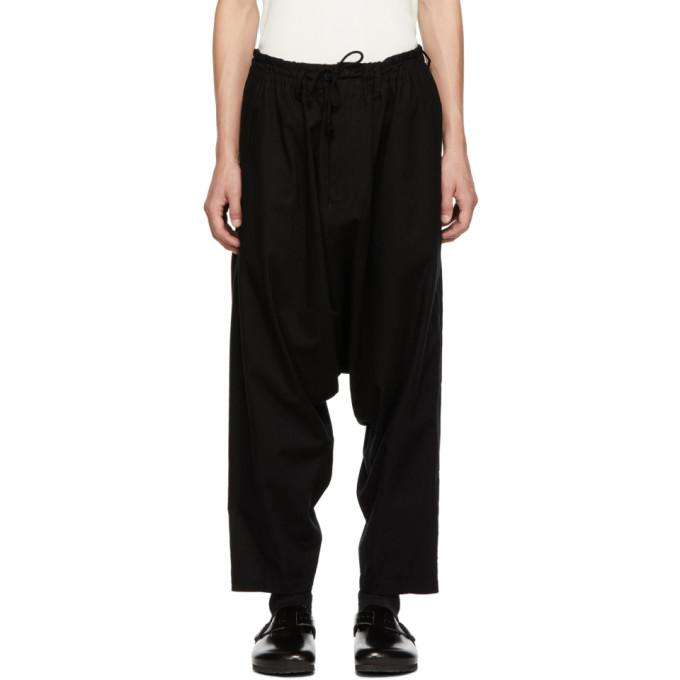 Image of Yohji Yamamoto Black Regular Sarouel Trousers