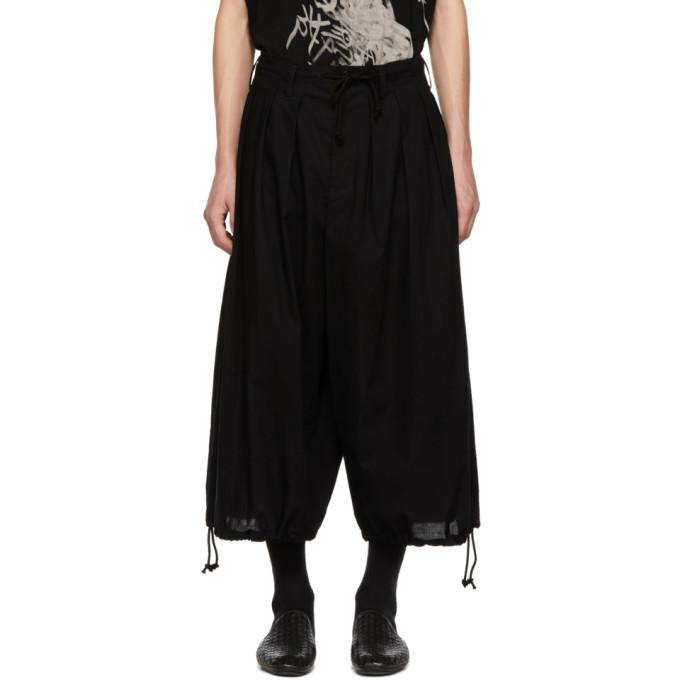 Image of Yohji Yamamoto Black Basic Balloon Trousers