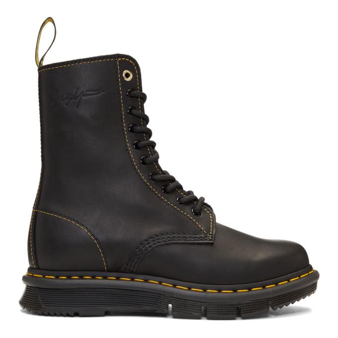 Yohji Yamamoto Black Dr. Martens Edition Oridance YY Boots