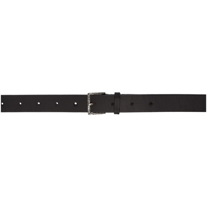 Image of Christian Dada Black Leather Vintage Long Belt