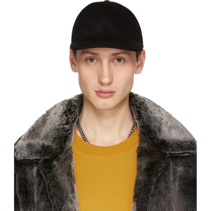 Image of Christian Dada Black Back Lace-Up Cap