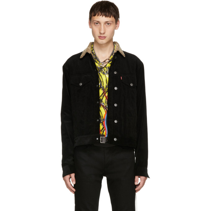 Image of Christian Dada Black Narrow Wale Rotatory Jacket