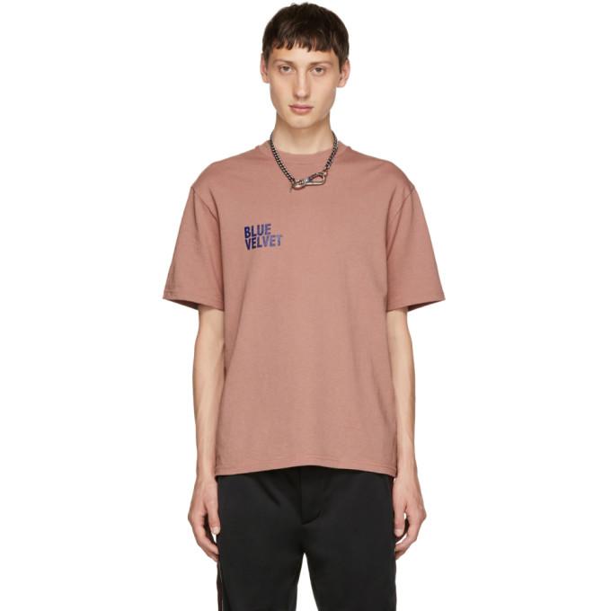 Christian Dada T-shirt rose Blue Velvet