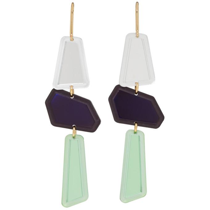 Isabel Marant Multicolor Contrast Drop Earrings