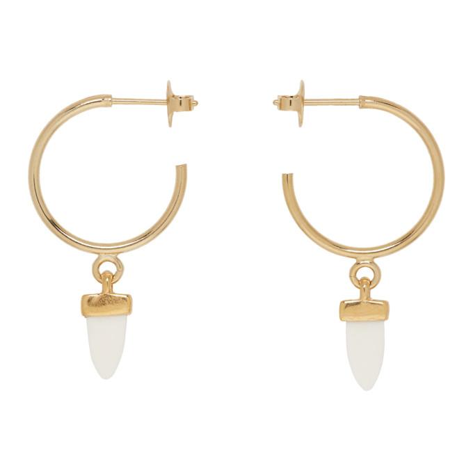 723f74f36f Isabel Marant Gold Horn Hoop Earrings