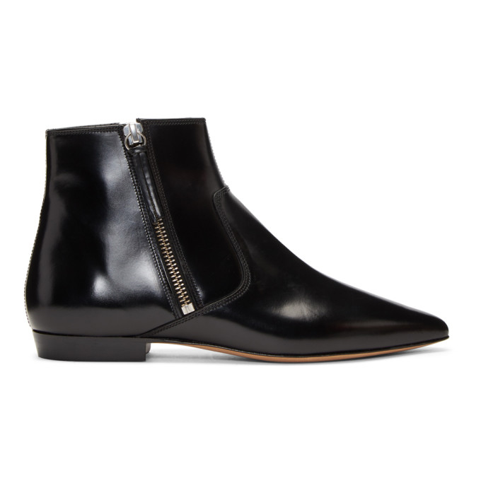Isabel Marant Black Dawie Leather Boots