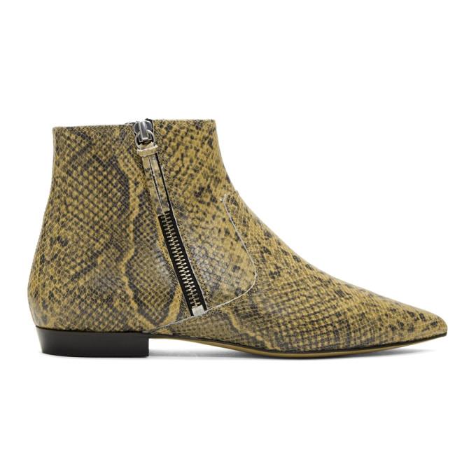 Isabel Marant Beige & Black Dawie Boots
