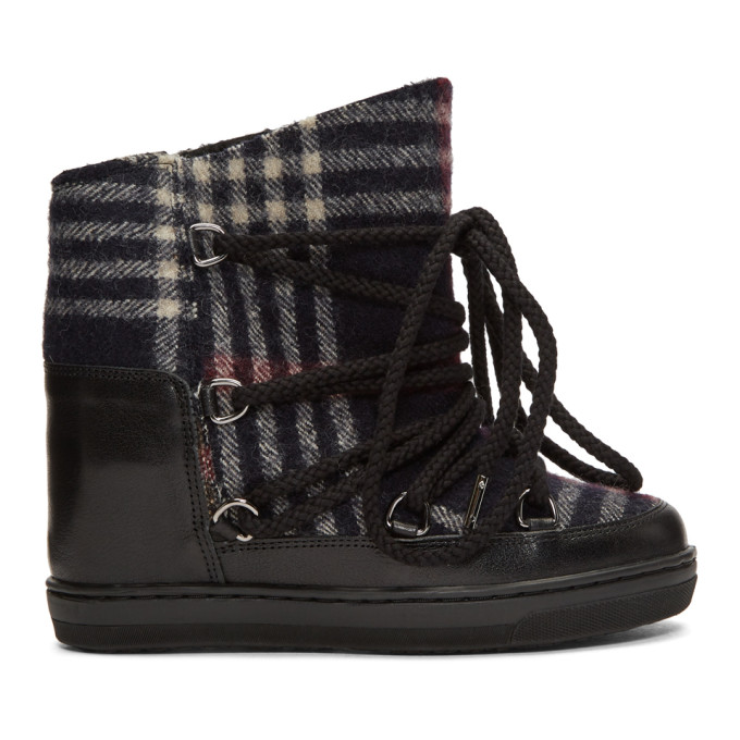 Isabel Marant Black & Navy Nowles Boots