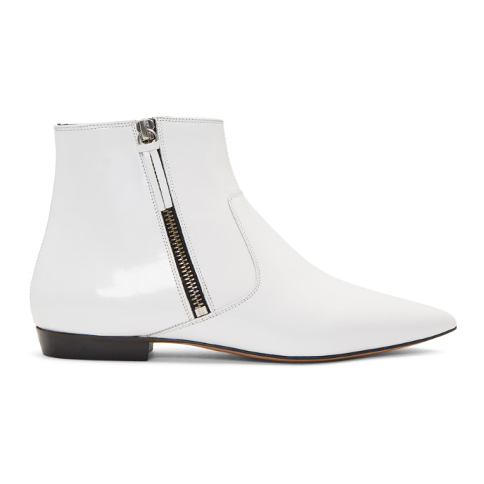 Isabel Marant White Dawie Boots