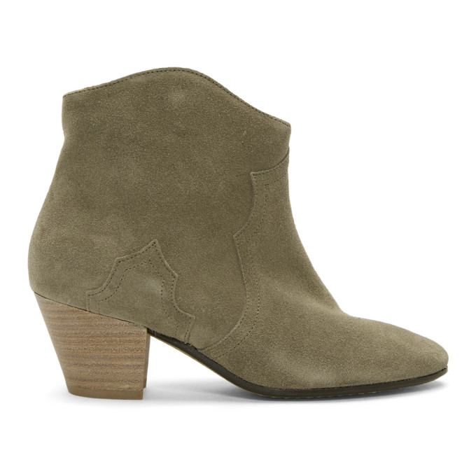 Isabel Marant Tan Suede Dicker Boots