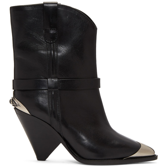 Isabel Marant Black Lamsy Western Boots