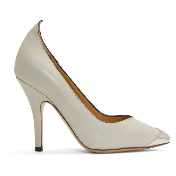 Isabel Marant White Pinjoe Western Heels