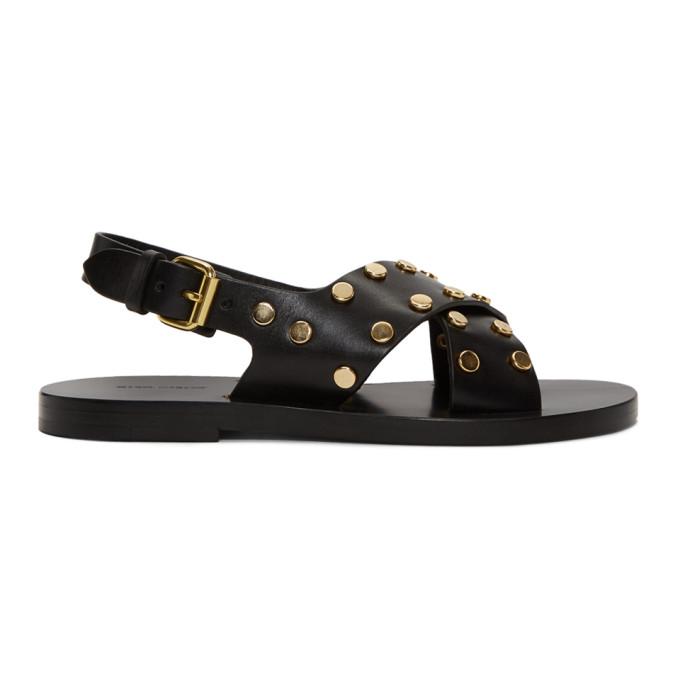 Isabel Marant Black Jane Crossover Sandals