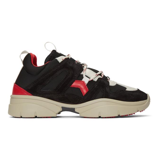 Isabel Marant Black Kindsay Mountain Sneakers