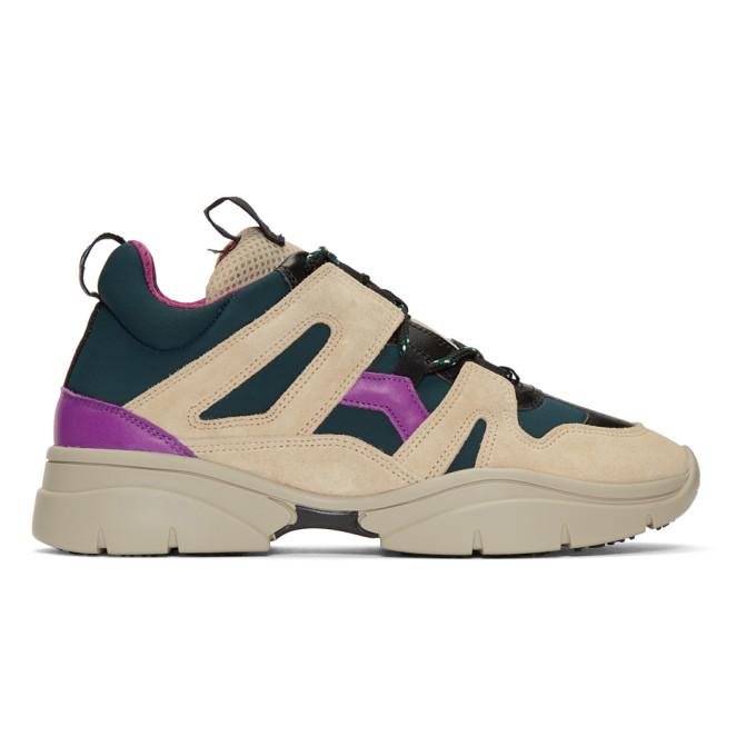 Isabel Marant Beige Kindsay Mountain Sneakers