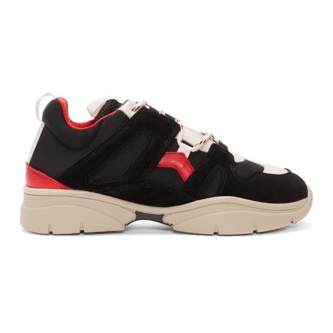 Isabel Marant Black Kindka Mountain Sneakers