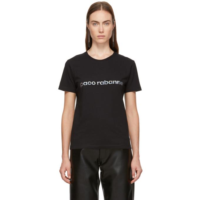 Image of Paco Rabanne Black Logo T-Shirt